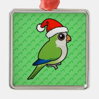 Christmas Monk Parakeet Metal Ornament