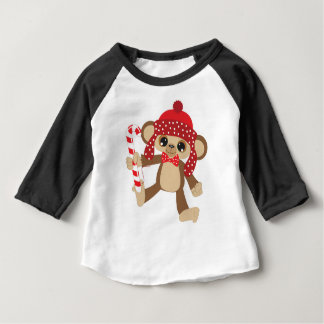 Christmas MONKEY Baby T-Shirt