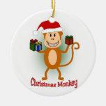 Christmas Monkey Ornament