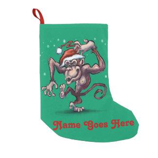 Christmas Monkey Small Christmas Stocking