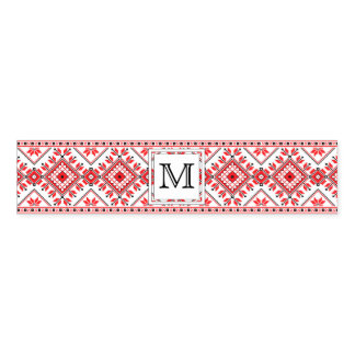 Christmas Monogram Napkin Ring Wrap