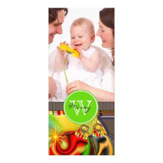 Christmas Monogram Rack Cards