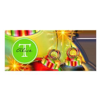 Christmas Monogram Rack Card