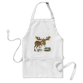 Christmas Moose~ Apron