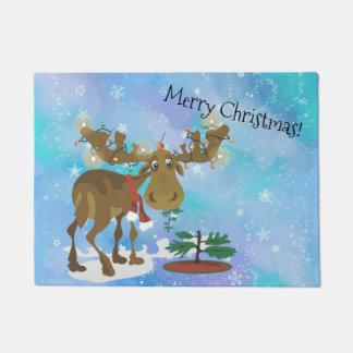 Christmas Moose ~ Doormat