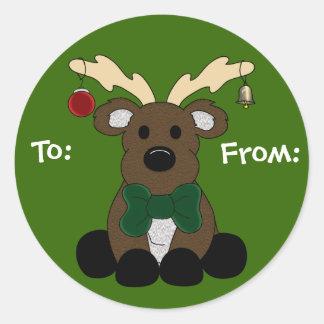 Christmas Moose Gift Tag