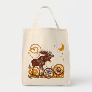 Christmas Moose Organic Reusable Shopping Gift Bag