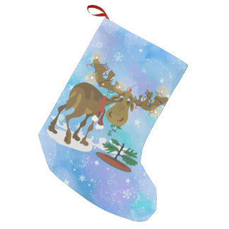 Christmas Moose ~ Small Christmas Stocking