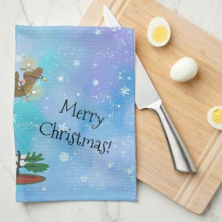 Christmas Moose Tea Towel