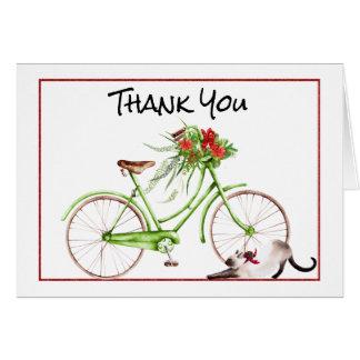 Christmas Morning Bicycle Thank You Card