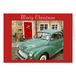 Christmas Morris Minor Card