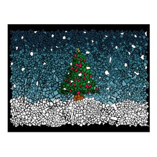 Christmas mosaic postcard