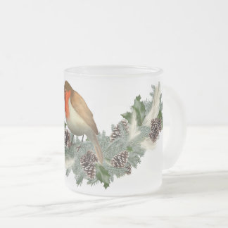 Christmas mosquito frosted glass coffee mug