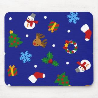 < Christmas motif (edge giza) seamless >Christmas Mouse Pad