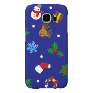 < Christmas motif seamless > Christmas motifs Samsung Galaxy S6 Cases