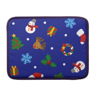 < Christmas motif seamless > Christmas motifs Sleeve For MacBook Air
