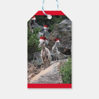 Christmas Mountain Goats Gift Tags