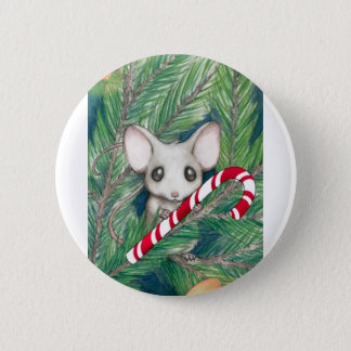 Christmas Mouse 6 Cm Round Badge