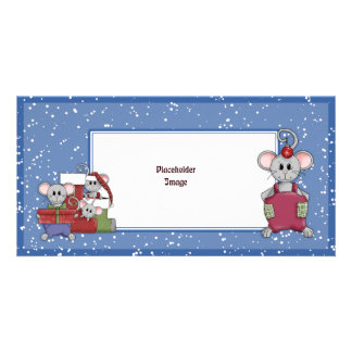 Christmas mouse and gifts picture card