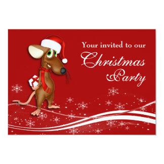 Christmas Mouse Company Christmas Party 13 Cm X 18 Cm Invitation Card