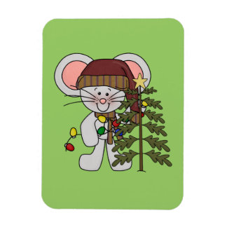 Christmas Mouse Decorating Tree Magnet