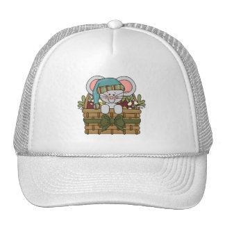 Christmas Mouse in Basket Trucker Hat