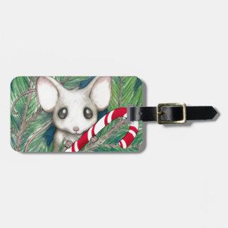 Christmas Mouse Luggage Tag