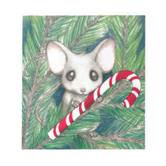 Christmas Mouse Notepad