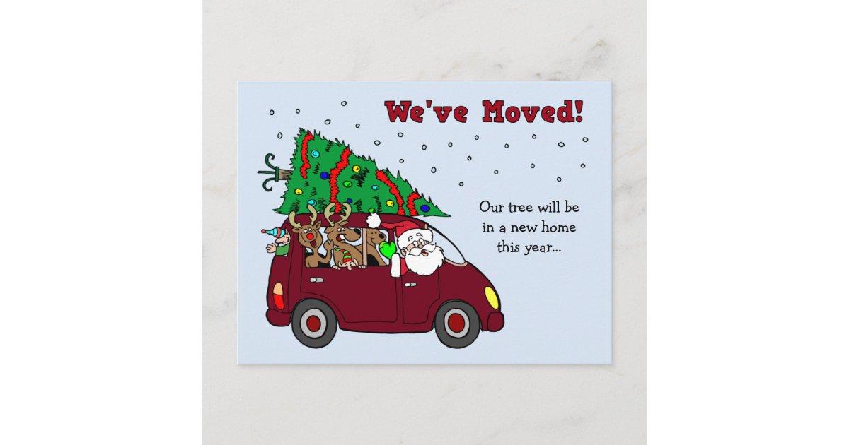 Christmas Moving Announcement postcards   Zazzle.com.au