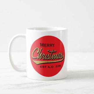"""Christmas Mug """"Merry Christmas EST A.D. 336"""""""