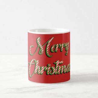 Christmas mug Merry Christmas greeting red green