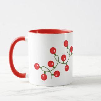 Christmas Mug Red Lights