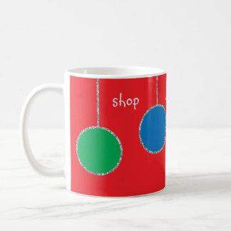 """Christmas Mug """"Shop Wrap Sleep Repeat"""""""