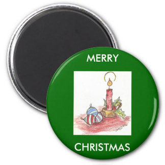 Christmas - multiple products 6 cm round magnet