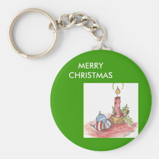 Christmas - multiple products basic round button key ring