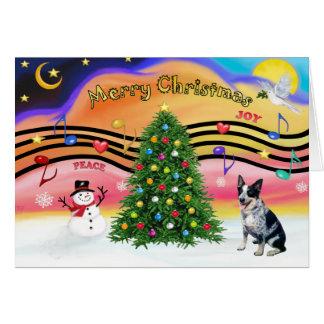 Christmas Music 2 - Australian Cattle Dog 1 Greeting Card