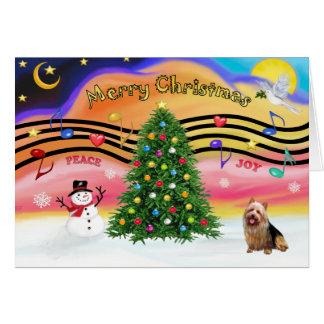 Christmas Music 2 - Australian Terrier Card