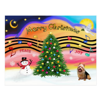 Christmas Music 2 - Australian Terrier Postcard