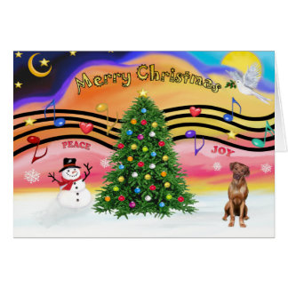 Christmas Music 2 - Rhodesian Ridgeback Card