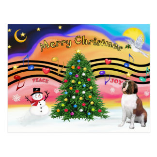Christmas Music 2 - Saint Bernard 1 Postcard