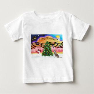 Christmas Music 2 - Siberian Husky (red) Baby T-Shirt