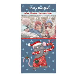 Christmas Music Mouse Customised Photo Card