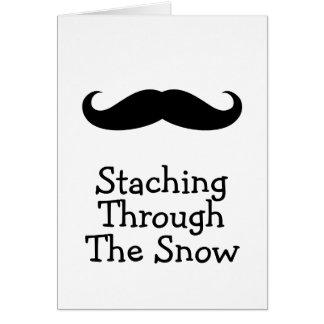 Christmas Mustache Humor Greeting Card