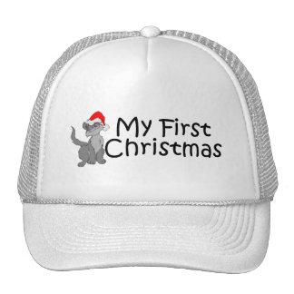 Christmas My First Christmas (Kitty) Mesh Hats