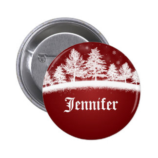 Christmas Name Badge Template Red Buttons
