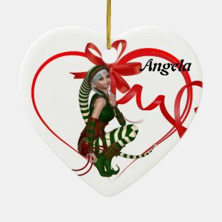 Christmas Name Tag Elf Ornament