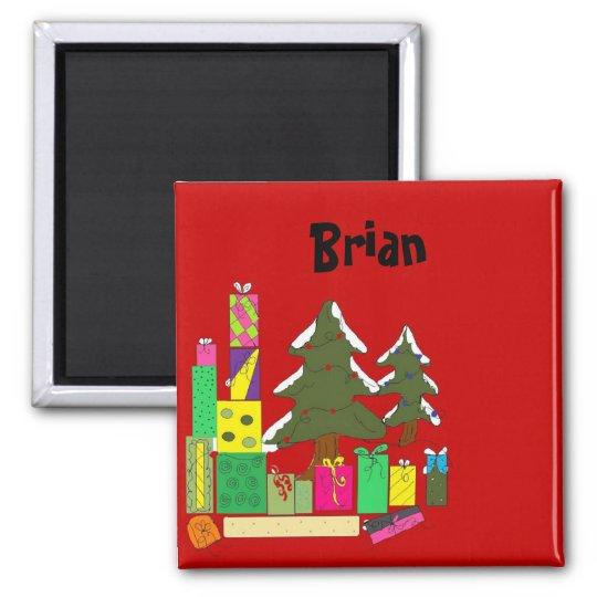 Christmas Name Tags Magnet