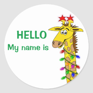 20 holiday party name tag stickers and holiday party name tag sticker designs zazzle for Christmas name badges