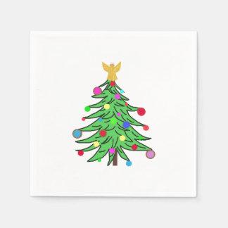 Christmas napkins ChristmasTree Custom Disposable Napkins