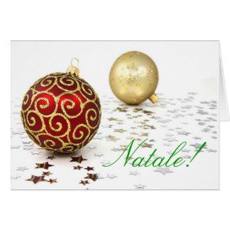 Christmas Natale I Greeting Card